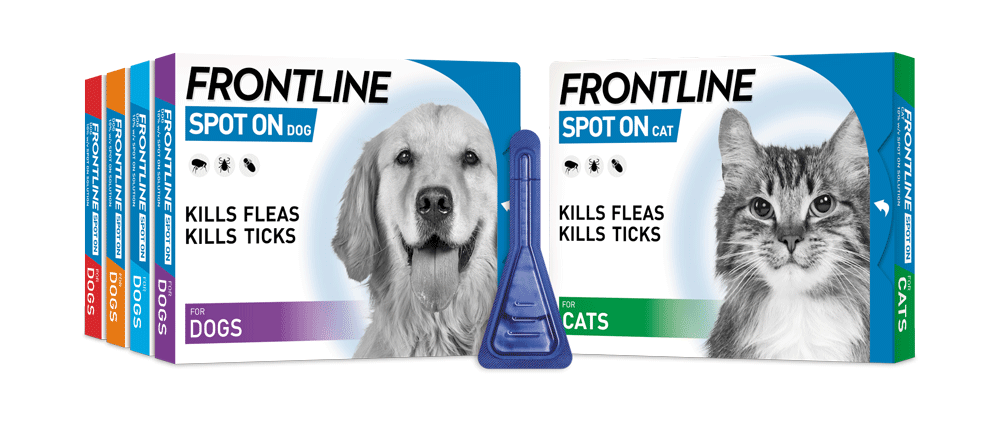 FRONTLINE Spot On flea treatment for cats and dogs packs