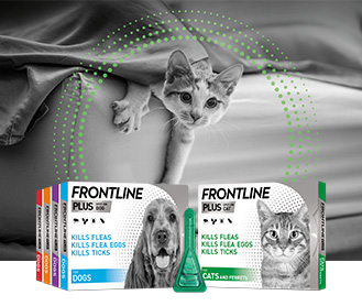 FRONTLINE Plus flea and tick treatment for dogs and cats