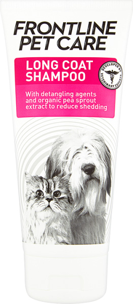Frontline Pet Care long coat shampoo for dogs and cats