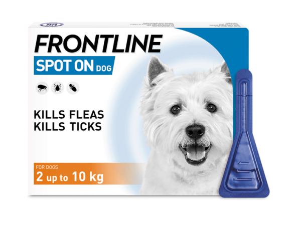 FRONTLINE Spot On flea treatment for small dogs pack shot